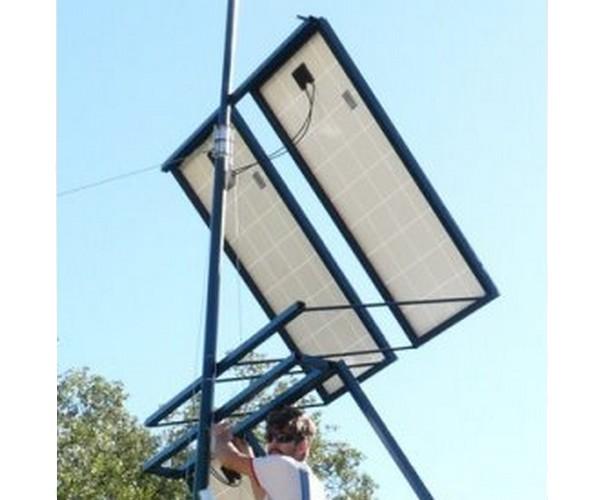 Montage des panneaux solaires 12